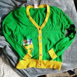 Super quirky lightweight Crayola sweater